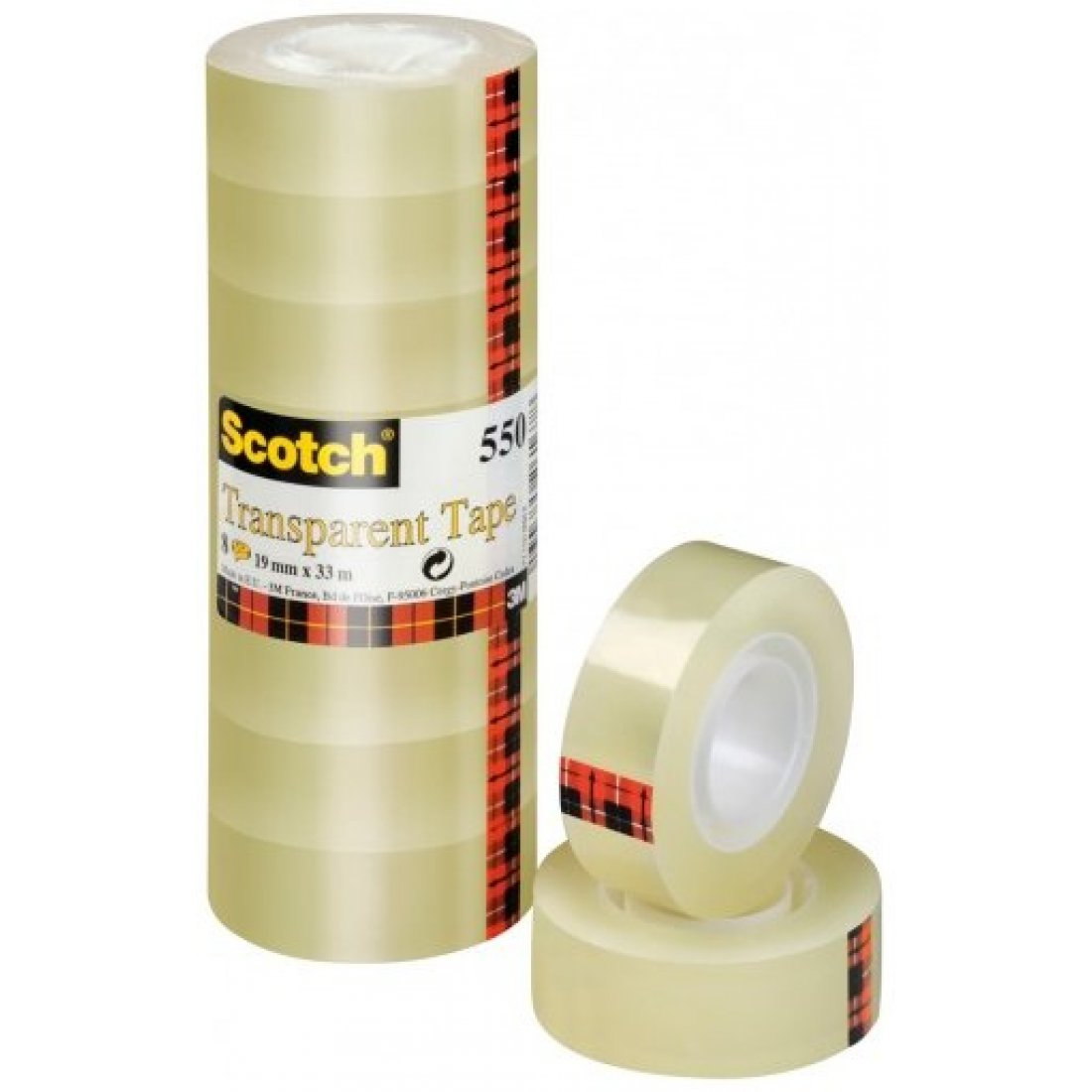 SCOTCH 550 TRANSPARANTE TAPE 19X33 8ST