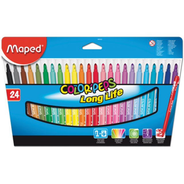 VILTSTIFT MAPED COLORPEPS 24X