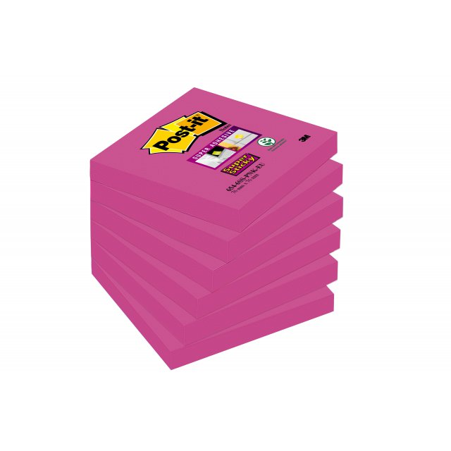 POST-IT SS FUCHSIA 76X76 90V P6