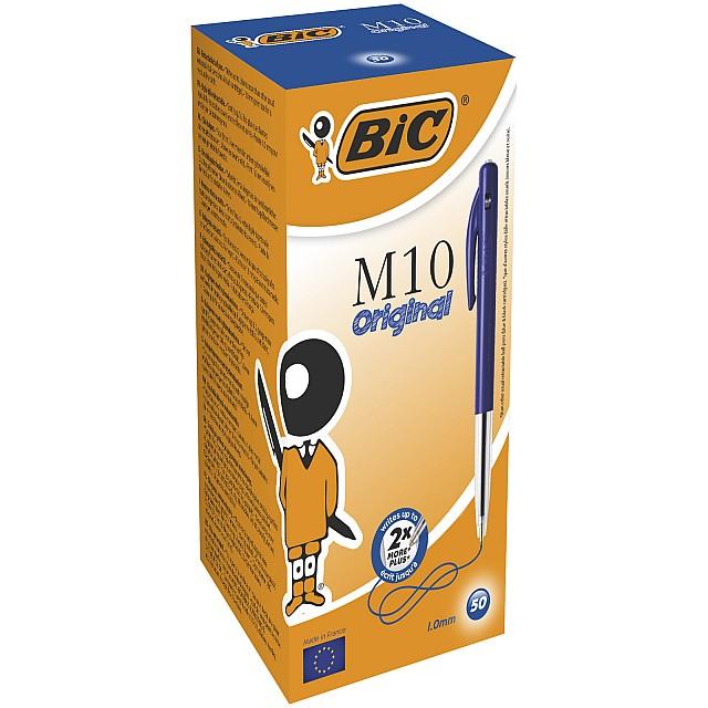 BIC M10 balpen BLAUW/50ST NETTO