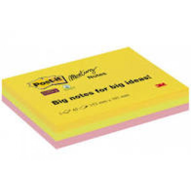 POST-IT SS LARGE SIZE xxl  152X101 color NOTES 3X45VEL