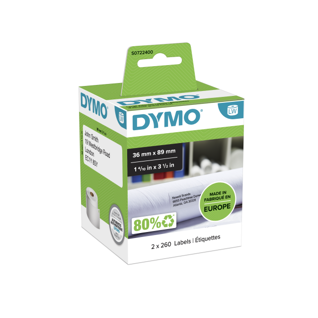 DYMO LABELWRITER ETIKET 99012 89X36