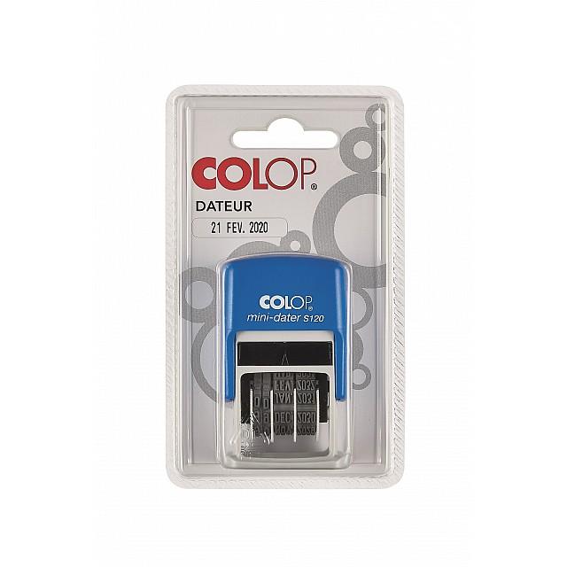 COLOP S120 MINI DAT LETTERS BL