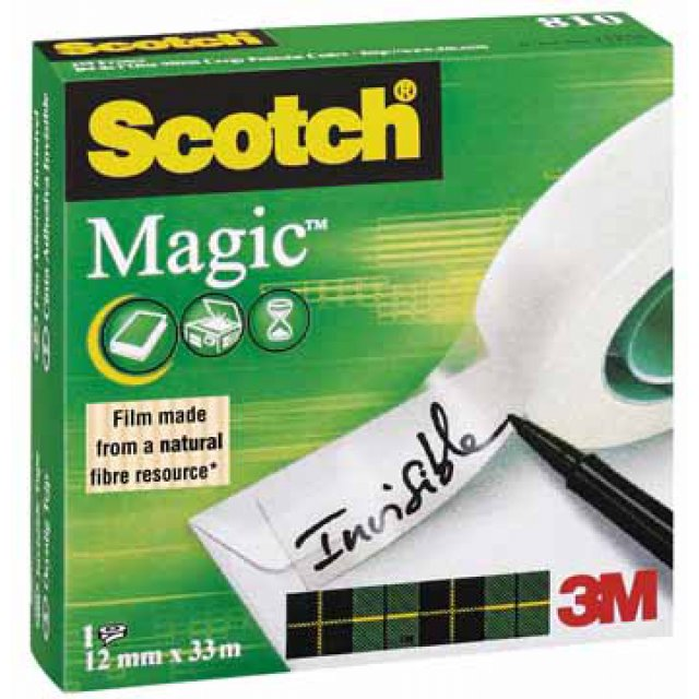 SCOTCH MAGIC TAPE 12MMX33M 1ST NETT