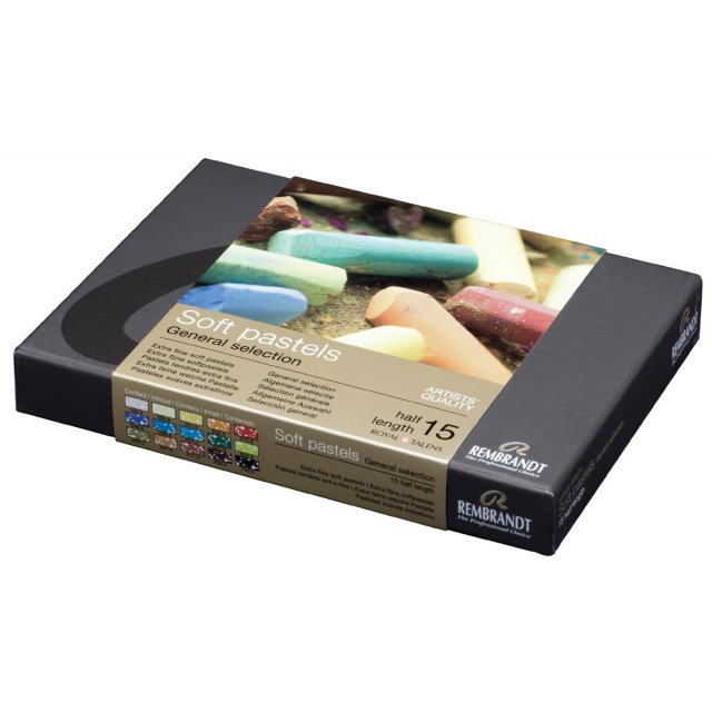 HALVE SOFTPASTELS SET 15X
