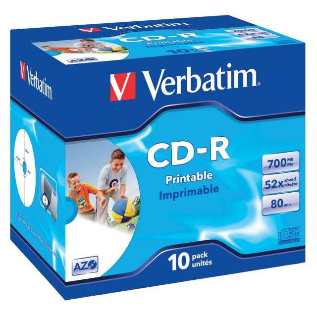 CD-R 700MB 52X JEWEL CASE 10X