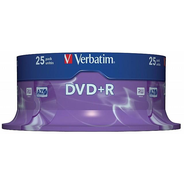 DVD+R 4,7GB 16X SPINDEL 25X