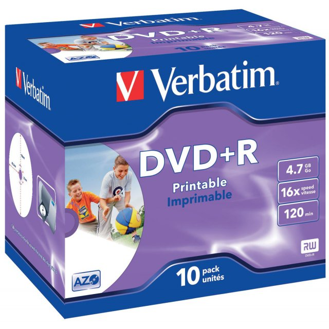 DVD+R 4,7GB 16X JEWEL CASE 10X