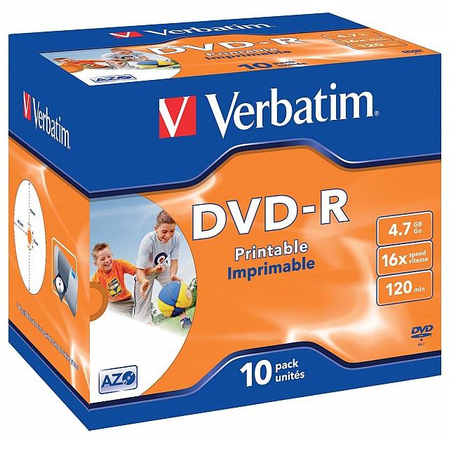 DVD-R 4,7GB 16X JEWEL CASE 10X