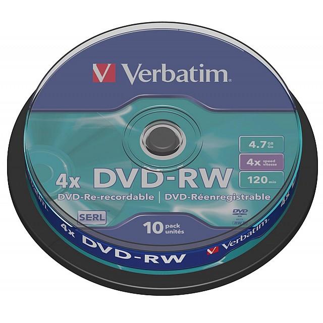 DVD-RW 4,7GB 4X SPINDEL 10X