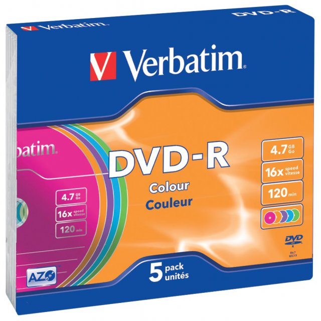 DVD-R 4,7GB 16X SLIM CASE 5X