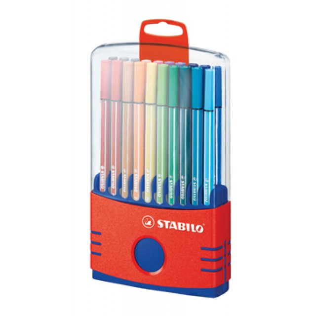 STAB PEN68 COLOR PARADE RED  20S BL