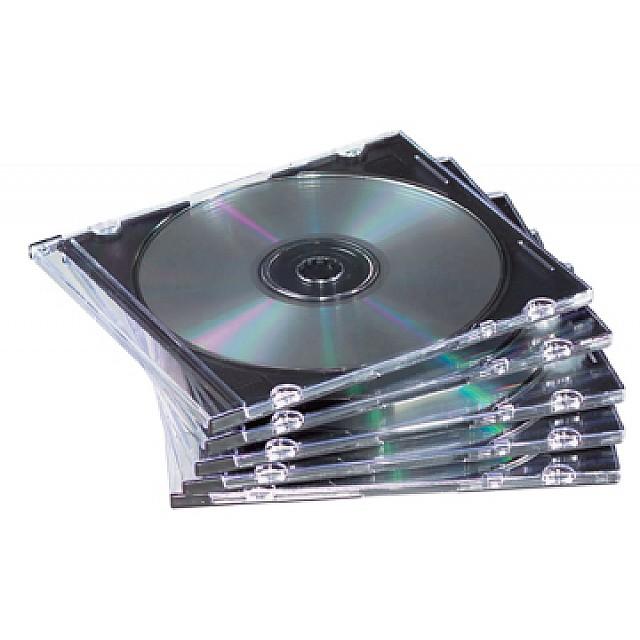 SLIMLINE CD DOOSJES TRANS 25X