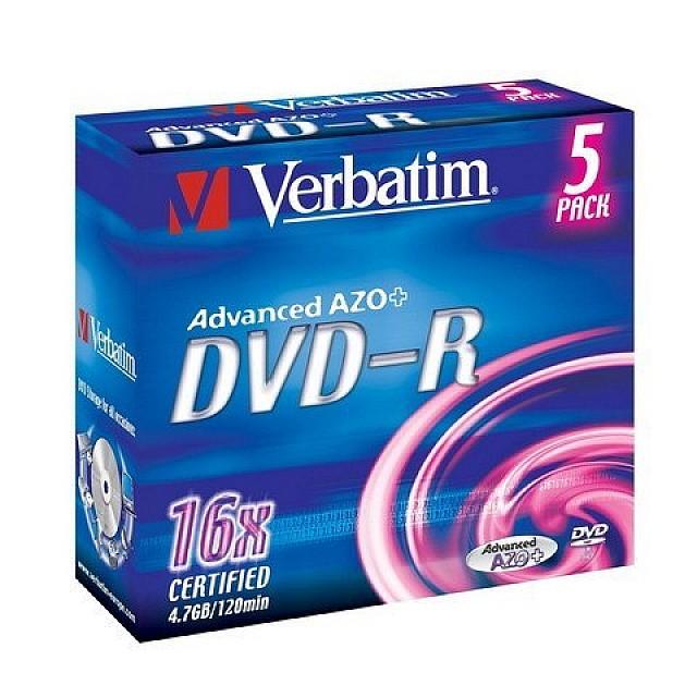 VERBATIM DVD-R 4,7GB 5ST