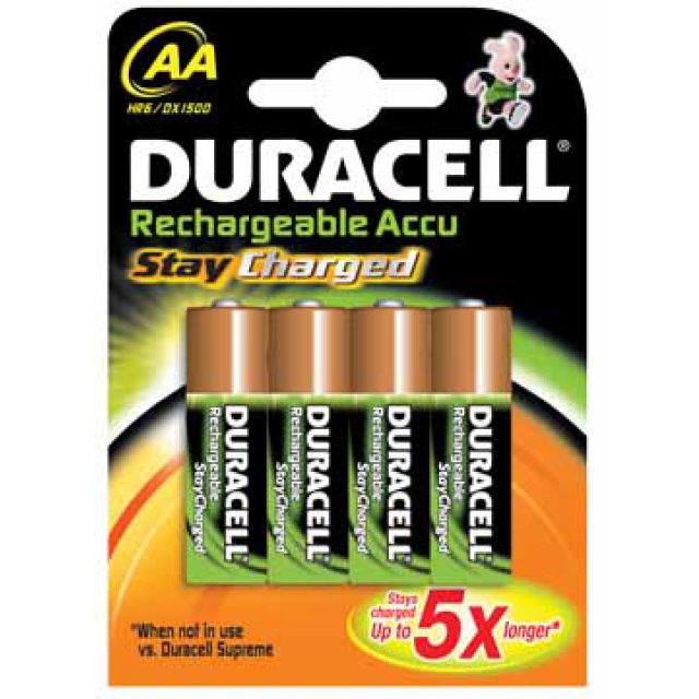 DURACELL STAY CHARGED AAA 4ST