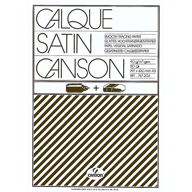 CANSON BLOK KALKPAPIER/A3/90GR/50V