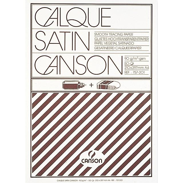 CANSON BLOK KALKPAPIER/A4/90GR/50V