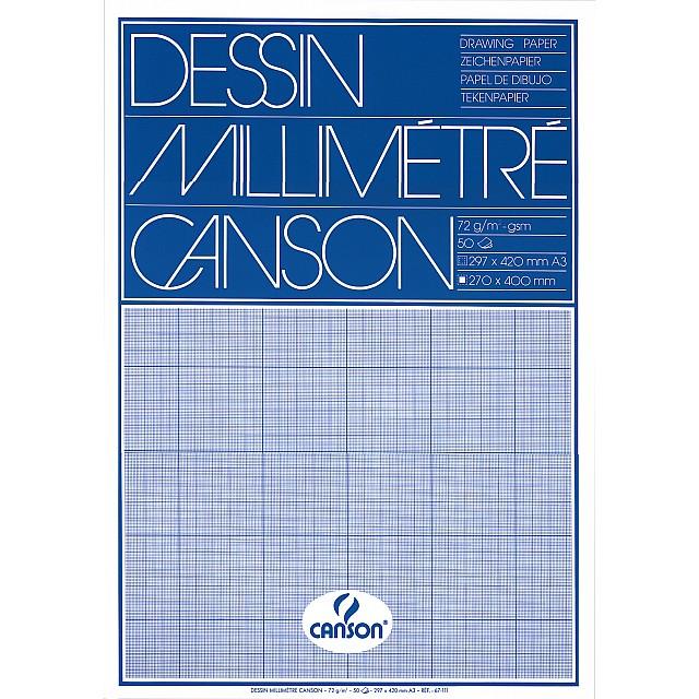CANSON MILLIMETERPAPIER A3 BLAUW