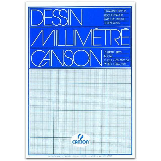 CANSON MILLIMETERPAPIER A4 BLAUW 50V