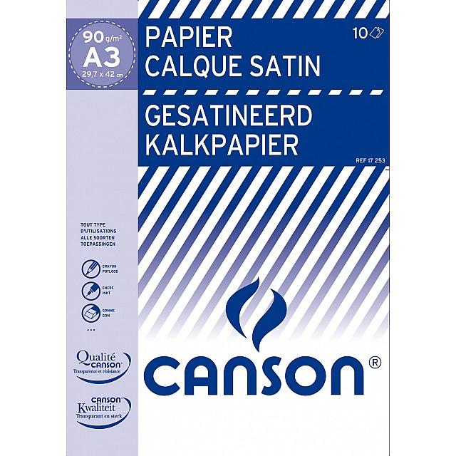 CANSON POCHETTE KALKPAPIER 90GR A3 10V