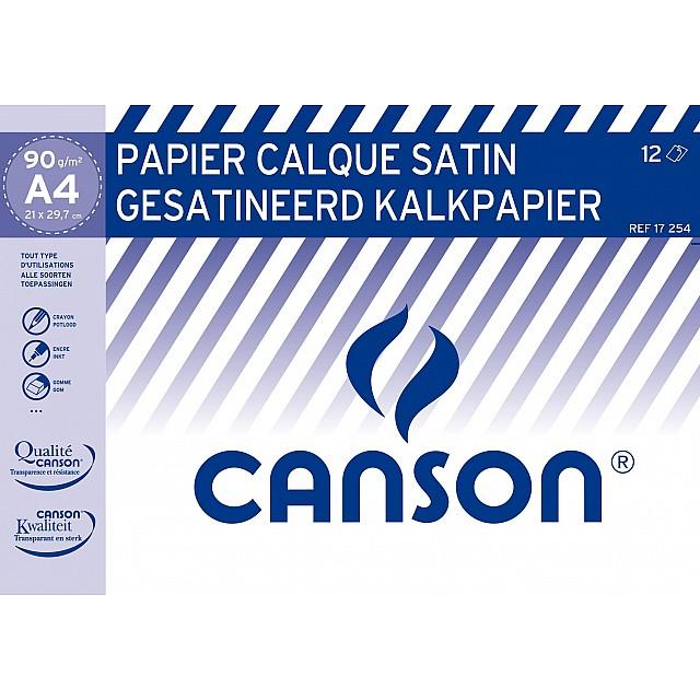 CANSON POCHETTE KALKPAPIER 90GR A4 12V