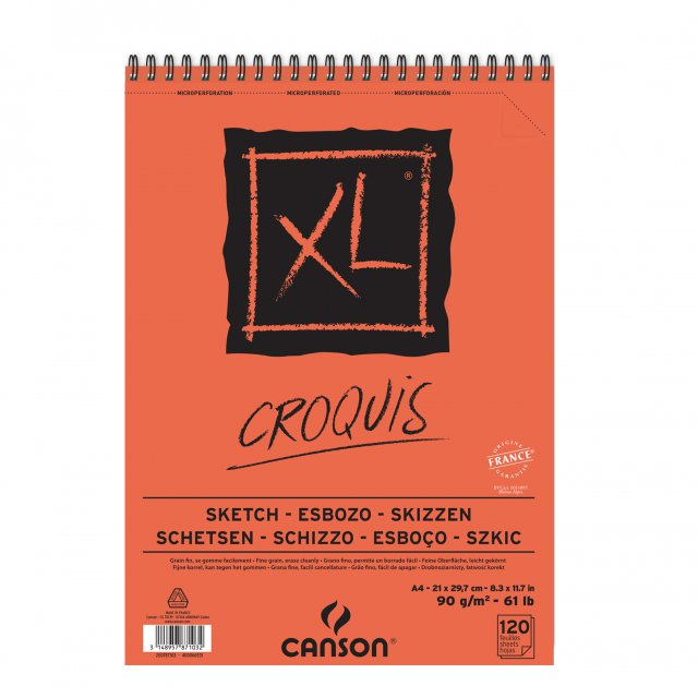 CANSON SCHETSBLOK CROQ A4 90GR XL