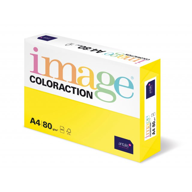 COLORACTION A4 80G CANARY 500V