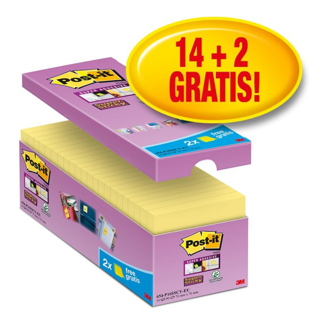 POST-IT SS YElLOW 76X76 14+2 NETTO