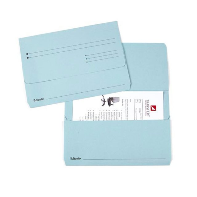 ESS POCKET FILE FOLIO BLAUW