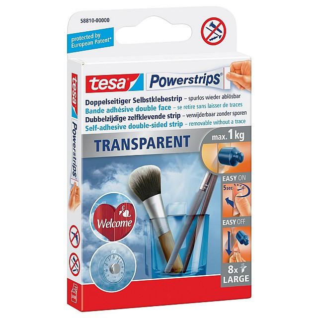 TESA POWERSTRIPS TRANSP BLS8
