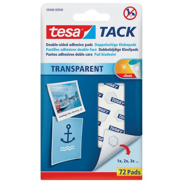 TESA TACK KLEEFPADS 72X