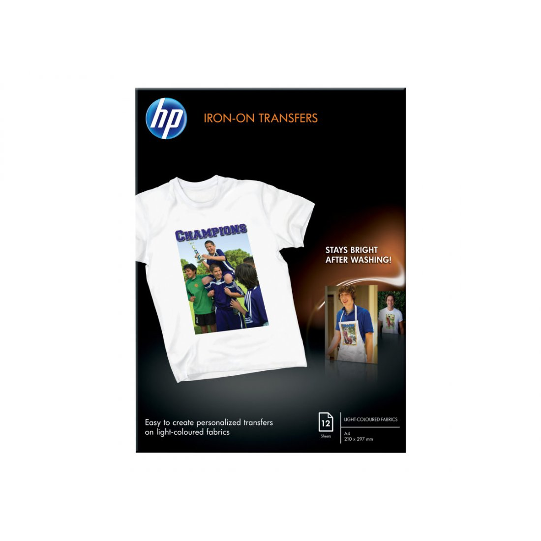 HP Iron-on transfers thermisch 170g/m2 A4 12 sheets 1-pack