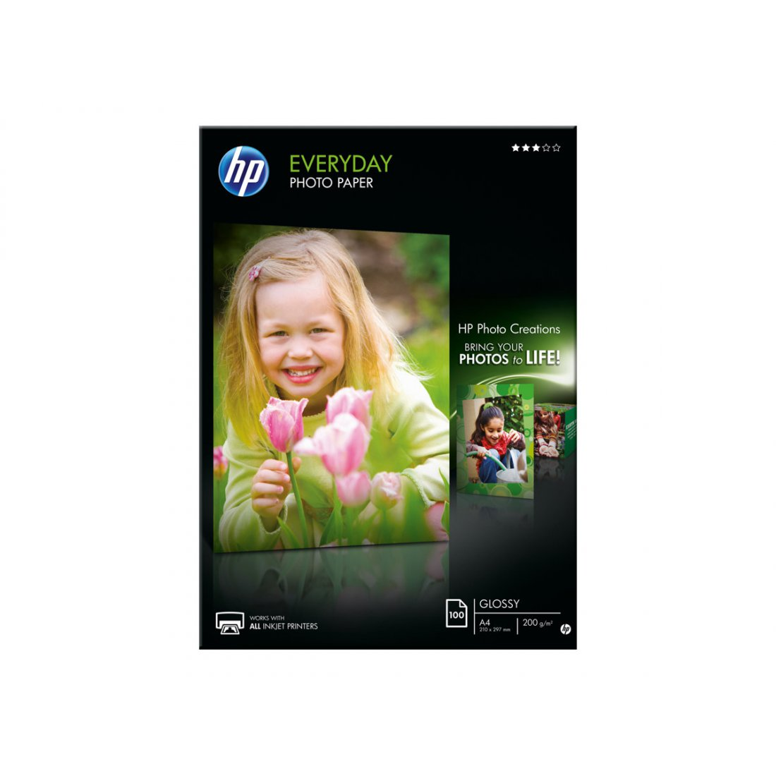 HP Q2510A Semi-glossy photo paper inktjet 200g/m2 A4 100 she