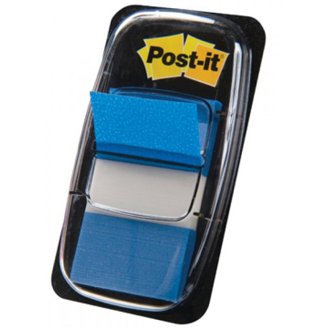POST-IT INDEX FLAG BREED  BLAUW