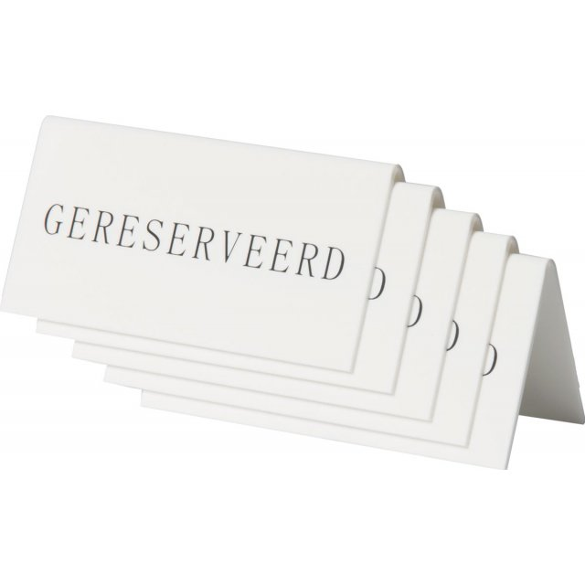 SECURIT BORDJE GERESERVEERD 5X