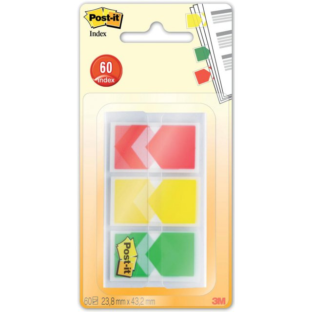 POST-IT INDEX PIJL 3X 20 TABS
