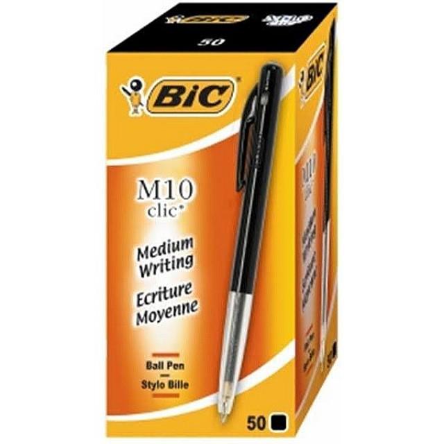 BIC M10 balpen ZWART/50ST NETTO