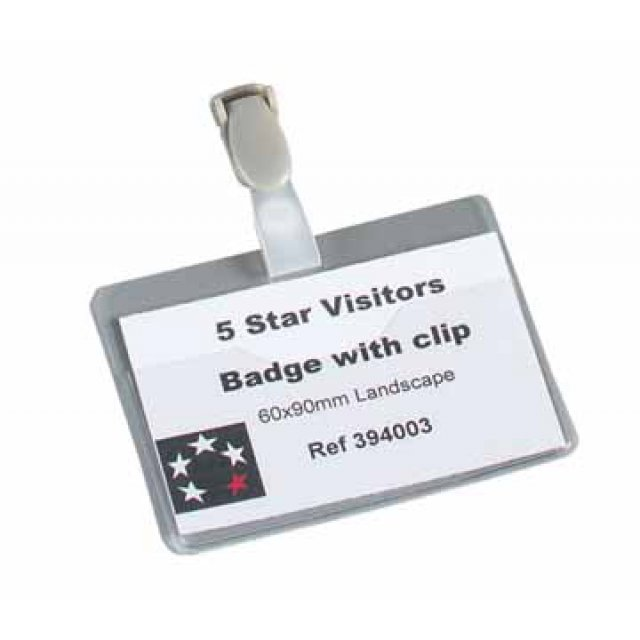 VISITOR BADGE OPEN 60X90MM