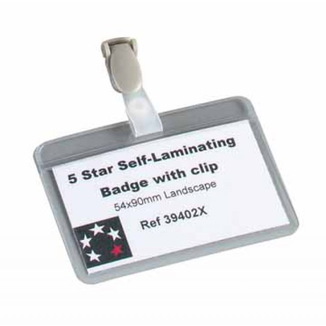 SELFLAMIN.BADGE 54X90MM 5STAR
