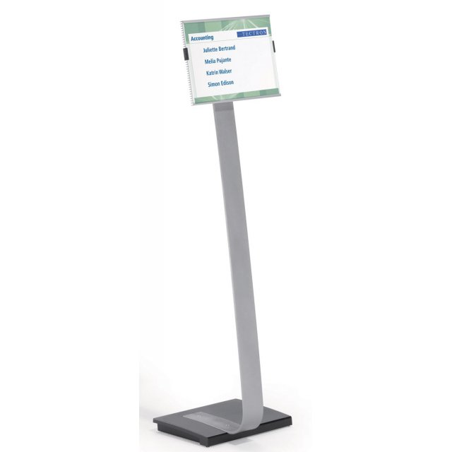 INFO SIGN STAND A4 ZILVER