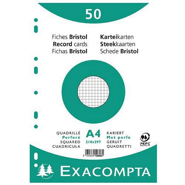 EXAC STEEKKAART A4 RUIT
