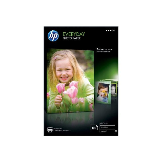 HP Everyday Glossy photo paper wit 200g/m2 100x150mm 100 she