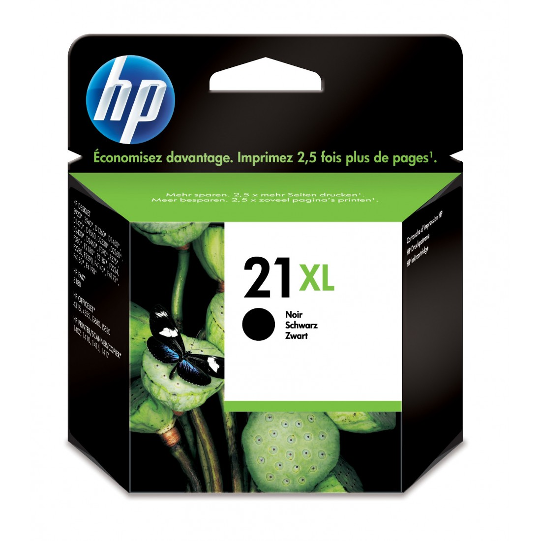HP 21XL originele ink cartridge zwart high capacity 12ml 475