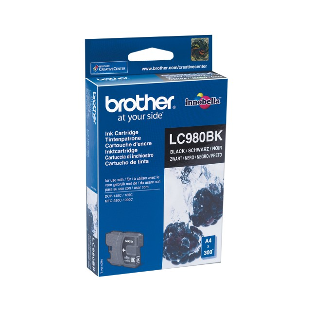 BROTHER LC-980 inktcartridge zwart standard capacity 6ml 300