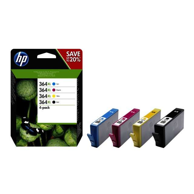 HP 364XL CMYK Inkt Cartridge Combo 4-Pack Standaardcapacitei
