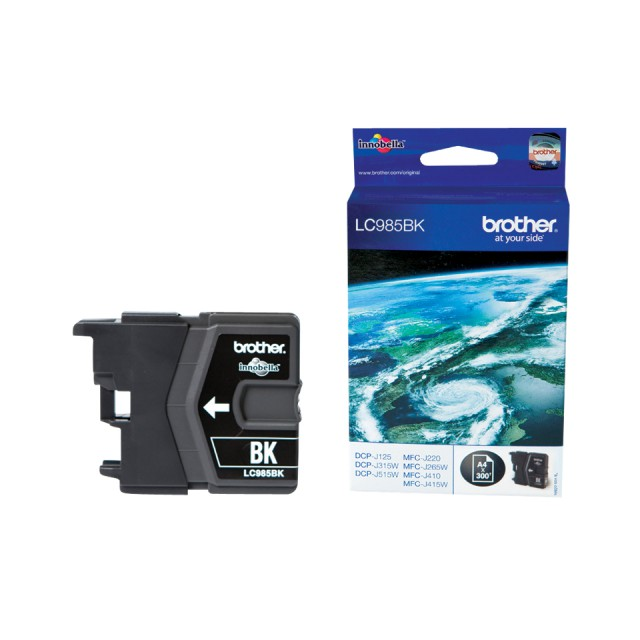 BROTHER LC-985 inktcartridge zwart standard capacity 300 pag