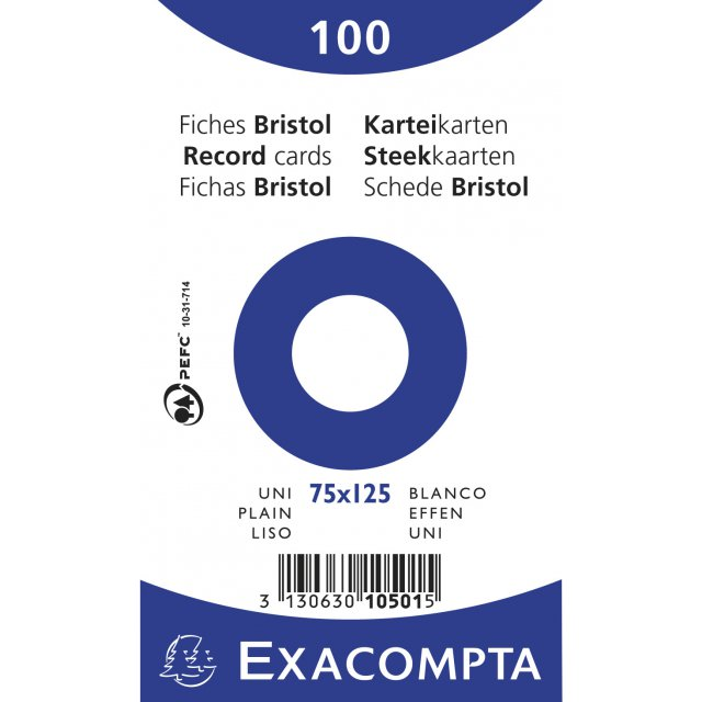 EXAC STEEKKAART 75X125 EFFEN