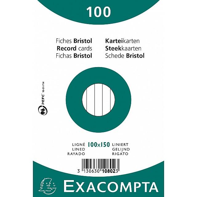 EXAC STEEKKAART 100X150 GELIJND